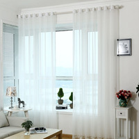 Tulle Curtains Solid Transparent Europe Romantic Wedding Voile Curtains For living room Bedroom Made Of Beads Sheer Curtains