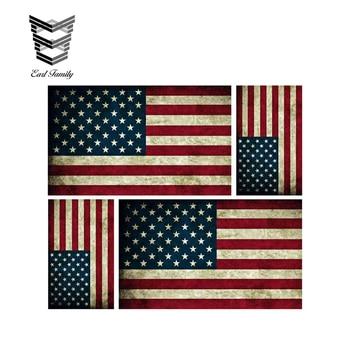 EARLFAMILY 13cm X 11,4 cm 4 Bandiera Americana América Adesivi Adesivo morir corte impermeable pegatinas de coche Moto Auto de EE. UU.