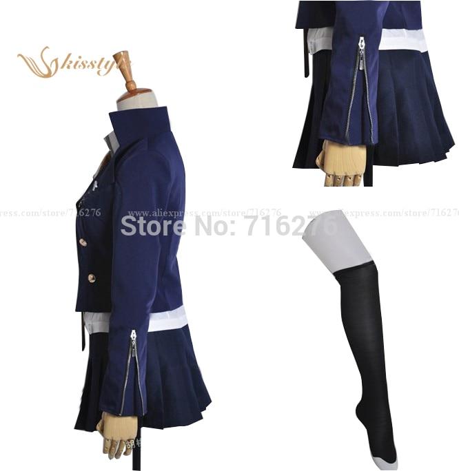 Kisstyle mode Anime Super Dangan Ronpa 2 brume coupe anneau le son tissu uniforme Cosplay Costume - 3