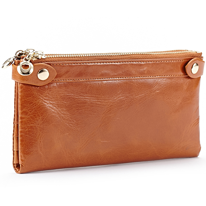Fashion Long Design Women Wallets Genuine Leather Coin Purse Female Double Zipper Multiple Cards Holder Wallet Clutch Bag A3274 brand genuine leather wallet female purse long coin purse money bag casual card holder women wallets fashion purse wallet women