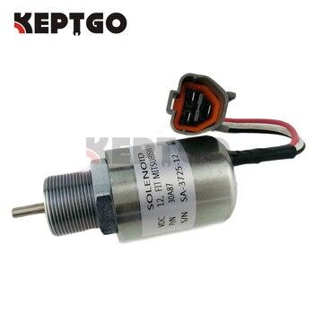 Stop solenoid 30A87-10044 PJ7415748 12V DC for Mitsubishi Volvo EC13 EC15 EC15B