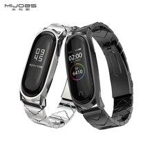Mijobs Mi Band 4 3 V-Shaped Metal Strap Bracelet For Xiaomi Mi Band 4 3 Wrist Strap Stainless Steel Wristbands Miband 4 3 Strap недорого