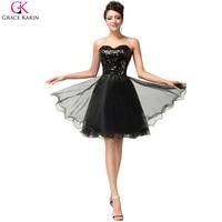 Grace Karin Black Golden Purple Luxury Sequins Short Cocktail Dresses 2017 Abiti Da Sweetheart Cocktail Party Formal Dress