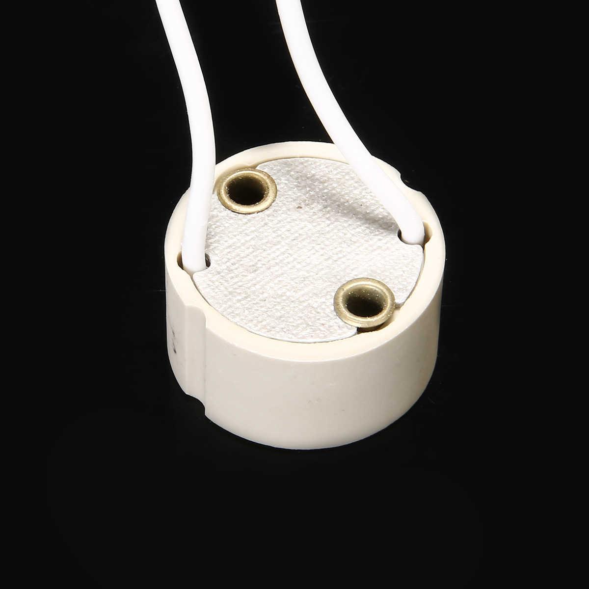 10 шт./лот GU10 держатель лампы гнездо Bbase адаптер провода разъем керамический разъем для Светодиодный галогенный светильник аксессуар