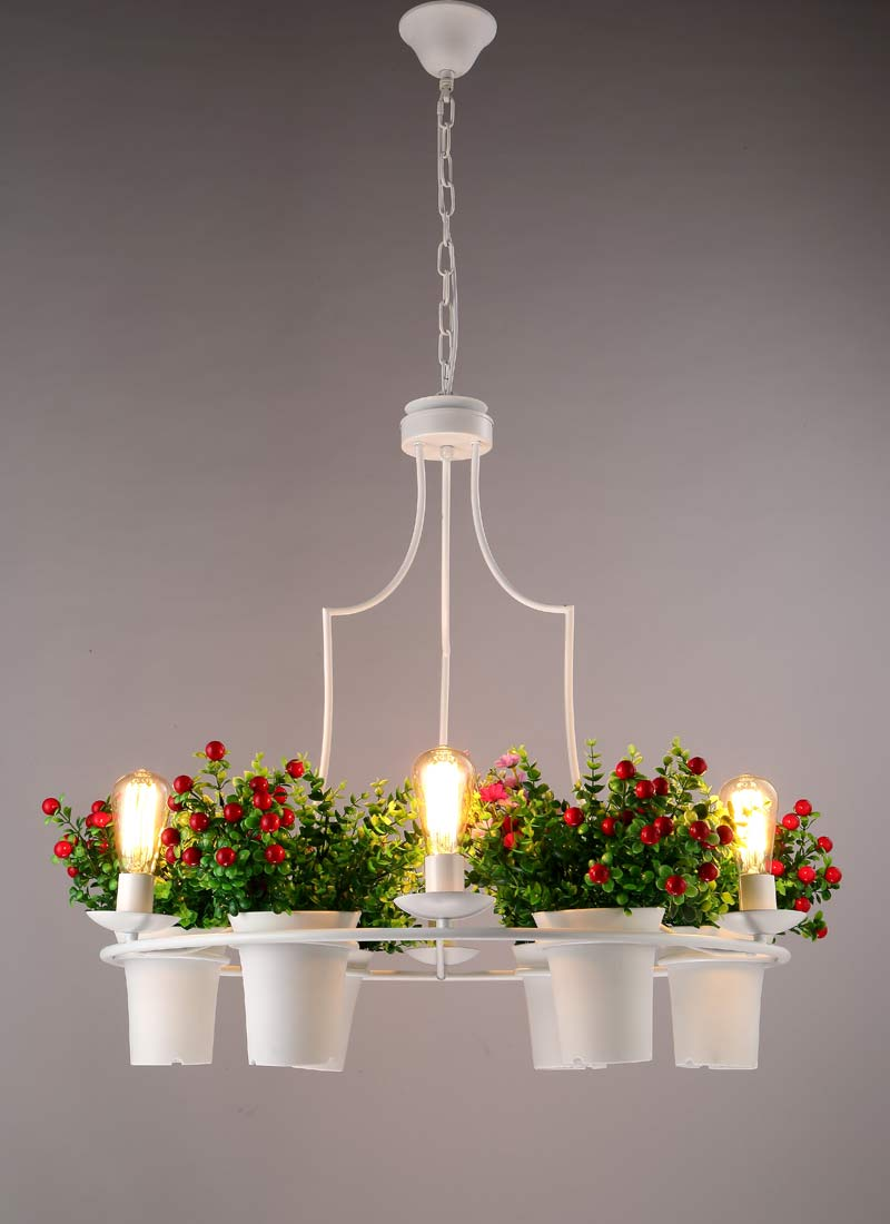 Flower grass lamp modern ceiling chandelier living room home flower grass lamp modern ceiling chandelier living room home decoration lighting white black wrought iron ring light fixture in chandeliers from lights arubaitofo Image collections