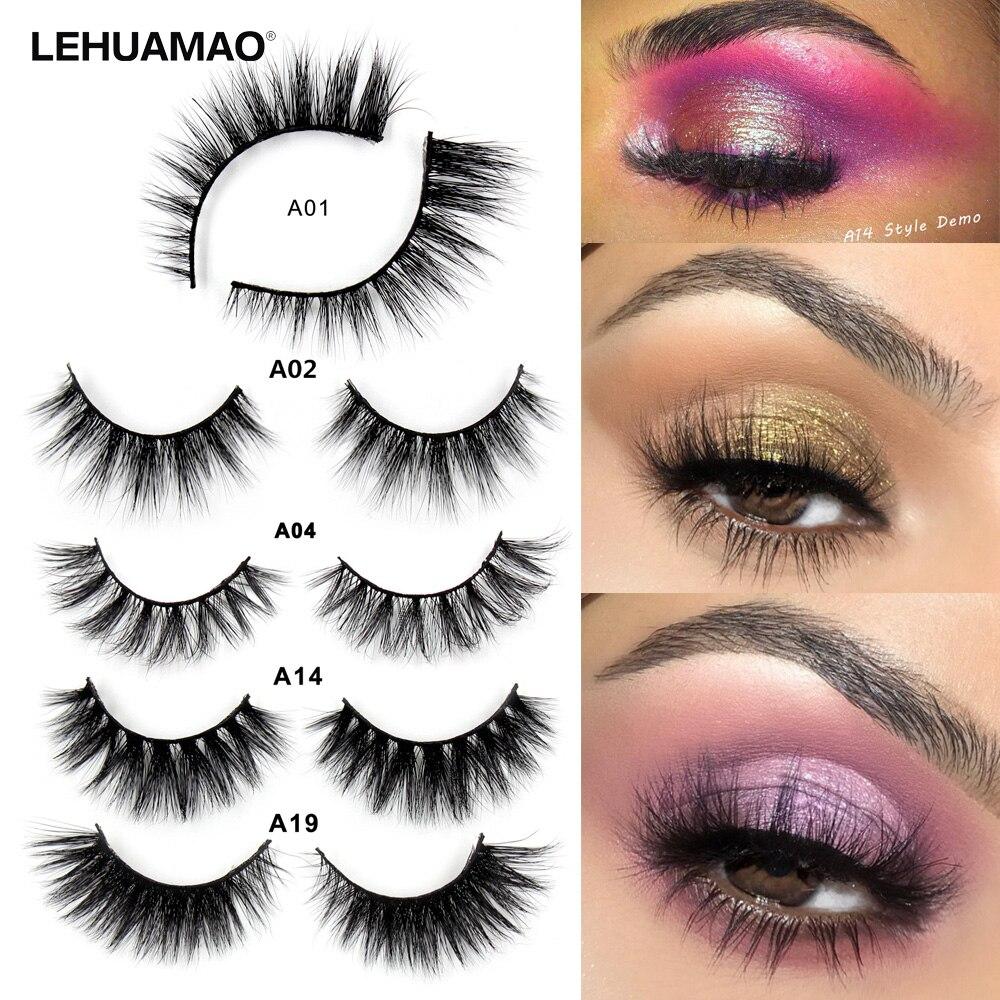 b1c99393ff6 LEHUAMAO Mink Lashes 3D False Eyelashes Natural Makeup Mink Eyelash  Extension Make Up Real Siberian Mink full Strip Eyelashe A01