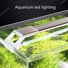 Nicrew SUNSUN ADP roślina wodna oświetlenie LED SMD akwarium Chihiros 7500K 5W 9W 13W 17W Ultra cienki stop aluminium do akwarium