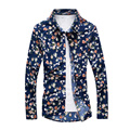 Slim Fit Hawaiian Mens Floral Shirt Hip Hop Mens Shirts Fashion 2016 Spring 5XL Plus Size Cotton Camisa Social Masculina T177