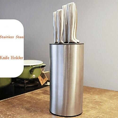 Cooking Block Tool Multi-functional Knife Holder Stainless Steel Knife Blocks Insert Knives Storage Oragnization Holder