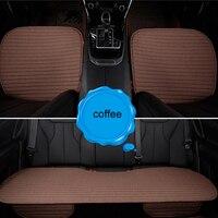 Универсальное автокресло Чехлы Breatheable волокно льна протектор Авто сиденье площадку подушки автомобильные аксессуары