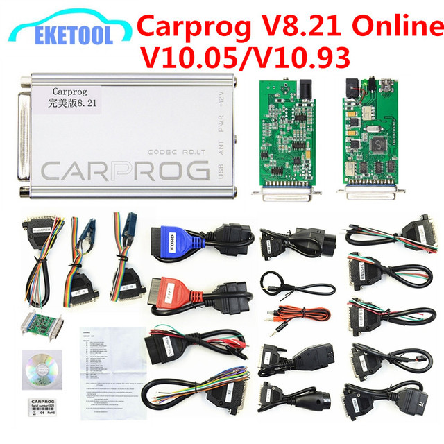 US $23 0 |Carprog V8 21 Online V10 93 V10 05 Auto ECU Repair Tool Full 21  Adapters Car Radio Odometer Dashboard Immobilizer Car Prog 8 21-in Car