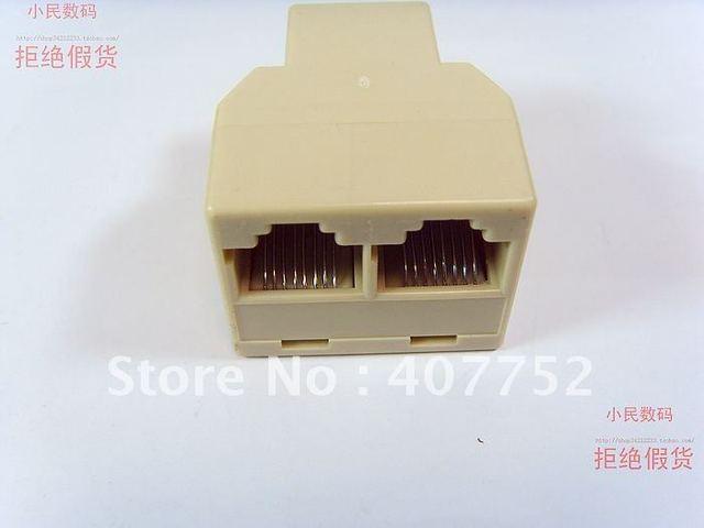 RJ45 Network Lan Splitter Extender Connector Plug 40 piece/lot