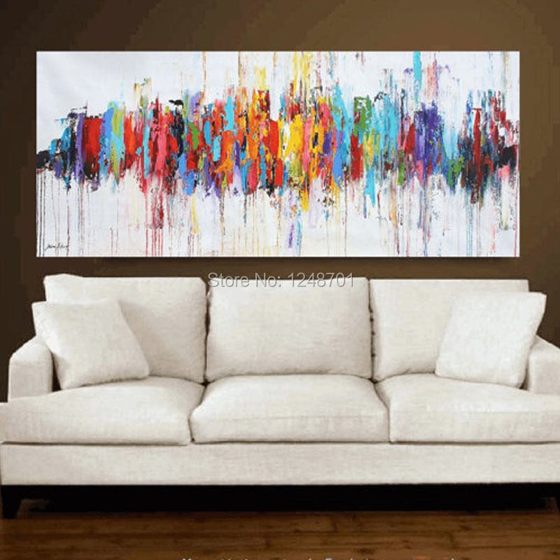 Buy modern abstract oil paintings on - Contemporary wall art for living room ...