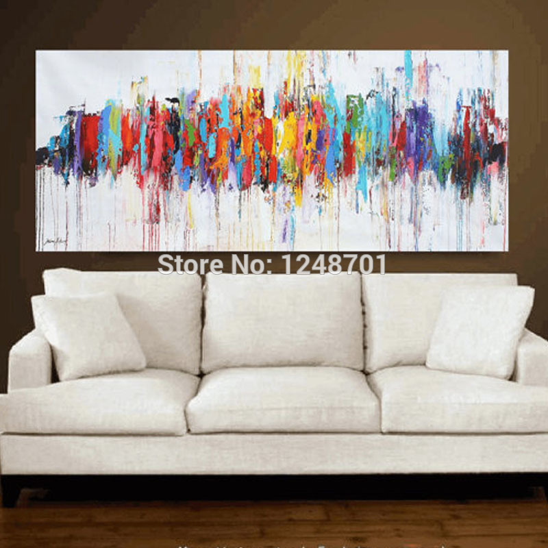 Modern Abstract Oil Paintings On Canvas Turquoise Wall Art For Living Room Home Decor Pictures 100 Hand Painted New In Painting Calligraphy