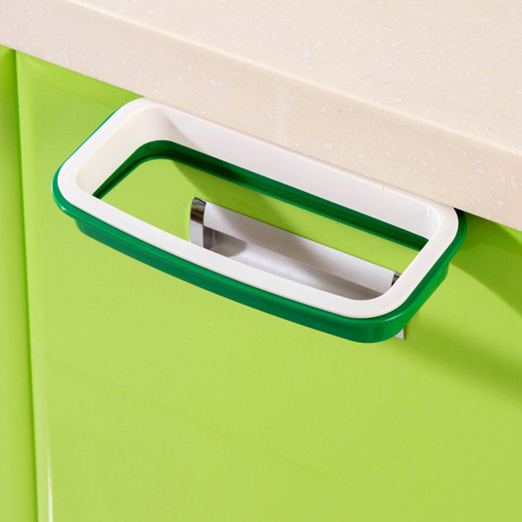 22*12.5cm Practical Portable Door Garbage Trash Bag Box Can Rack Plastic Hanging Holder Kitchen Tool E2S