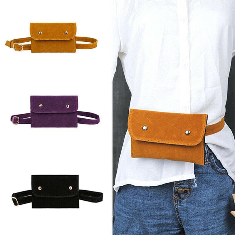 Fashion Women Girl Waist Fanny Pack Belt Bag Pouch Travel Hip Bum Bag Mini Purse Dark Green Black Purple Brown
