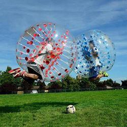 Kinetische anti-stress-toroflux 1,0mm TPU Aufblasbare Zorb Ball 1,2/1,5 m Blase Fußball Ball Luft Stoßstange Ball Blase fußball spielzeug