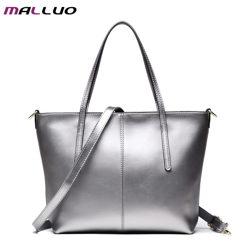 MALLUO Genuine Leather Handbags Fashion Women Messenger Bags Pearl Leather Shoulder Bag Famous Brands High Quality Ladies Totes 2016 new laorentou women genuine leather bag famous brands fashion quality women leather handbags shoulder messenger bag