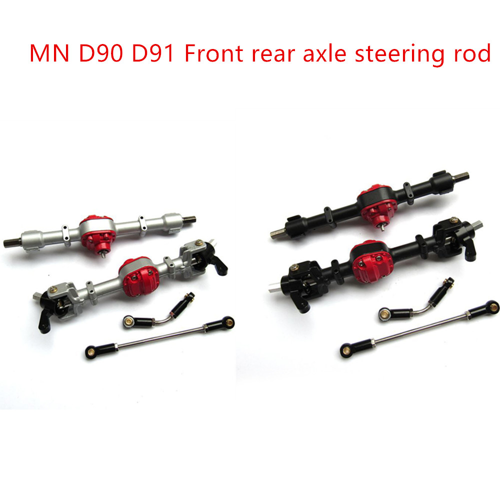 MN Model 1:12 D90 D91 Upgrade RC Crawler Car Spare Accessories Metal Gear Front Axle Rear Axle Bridge Shell Steering Pull Rod