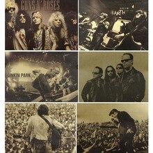 Плакат и печатная графика винтажные плакаты рок-группа Ретро картины для жизни декоративная живопись для комнаты кофе крафт обои