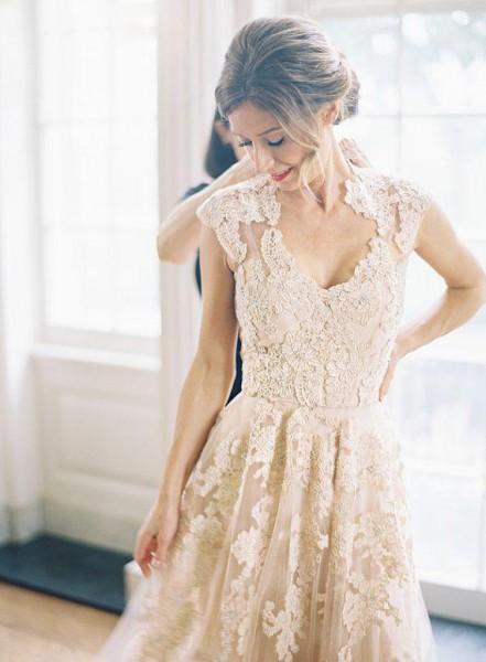 Popular wedding dresses image buy cheap wedding dresses for White and champagne wedding dress