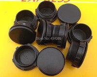 500 pcs 30mm furo de montagem Rosca PT Cinza/Painel Interruptor de Botão de Plástico Preto Tampa Da Ficha