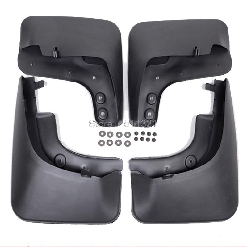 Fit For Volkswagen VW Tiguan 2009 2010 2011 2012 2013 2014 New Plastic Mudguards Splasher Protector Splash Guards Auto Fenders car rear trunk security shield cargo cover for volkswagen vw tiguan 2016 2017 2018 high qualit black beige auto accessories