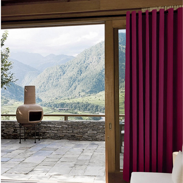 ChadMade Blackout Yarn Dyed Indoor Outdoor Curtain Home Window Solid Modern  Style Curtains High Quality OUT
