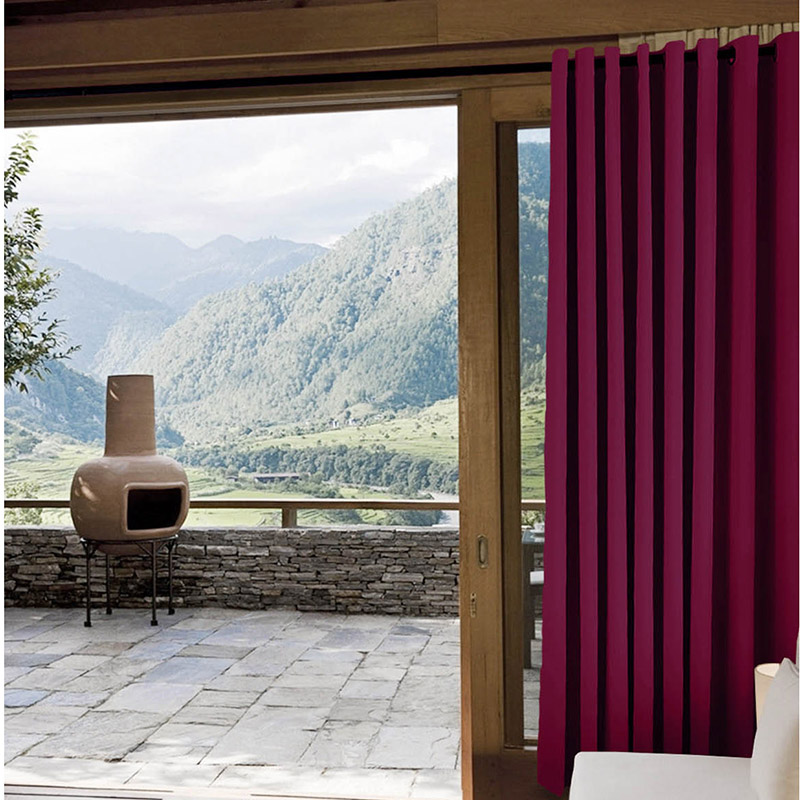 Chadmade New Blackout Solid Yarn Dyed Indoor Outdoor Curtains Home