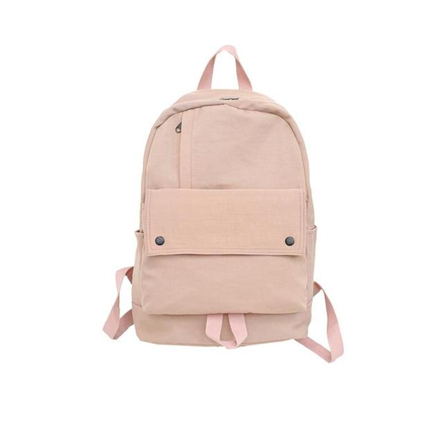 8bf4719cfcb US $14.64 40% OFF|Canvas Backpack Korean Stylish Casual Large Capacity  Unisex Studengy Backpack School Daypack for Hiking College Camping  Travel-in ...