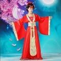 Chino tradicional rojo ropa ropa de traje de hadas juego de la espiga hanfu guzheng hadas disfraces vestidos para las mujeres antiguas dress
