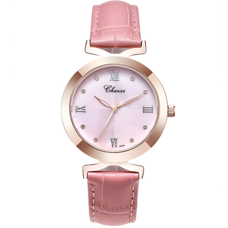 CHENXI Luxury Women Leather Strap Watches Fashion Dress Ladies Gold Quartz Hand Watch Female Girls Gifts Brand Wristwatch NATATE natate new popular men fashion quartz watch leisure business luxury chenxi brand stainless sports wristwatch 1240