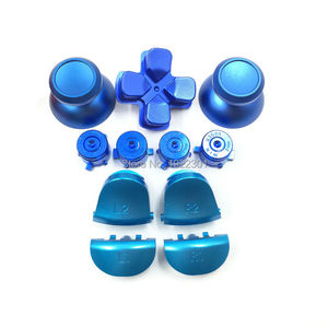 Image 4 - Customs Metal Bullet Buttons thumbstick cap L1 R1 L2 R2 Dpad Aluminum Buttons for PS4 Controller Dualshock 4 JDM001 JDM011