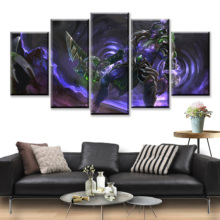 5 Piece HD Picture DOTA2 Video Game Poster Wall Sticker Paintings Decoration Artwork Canvas Art for Home Decor