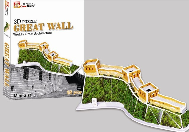 Boxed 3d puzzle model diy puzzle great wall educational toys