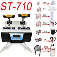 ST 710 7 in 1 Combo Double Station Mug Press Machine Mup Printing Machine Sublimation Printer for 3oz/6oz/9oz/11oz/12oz/17oz Cup