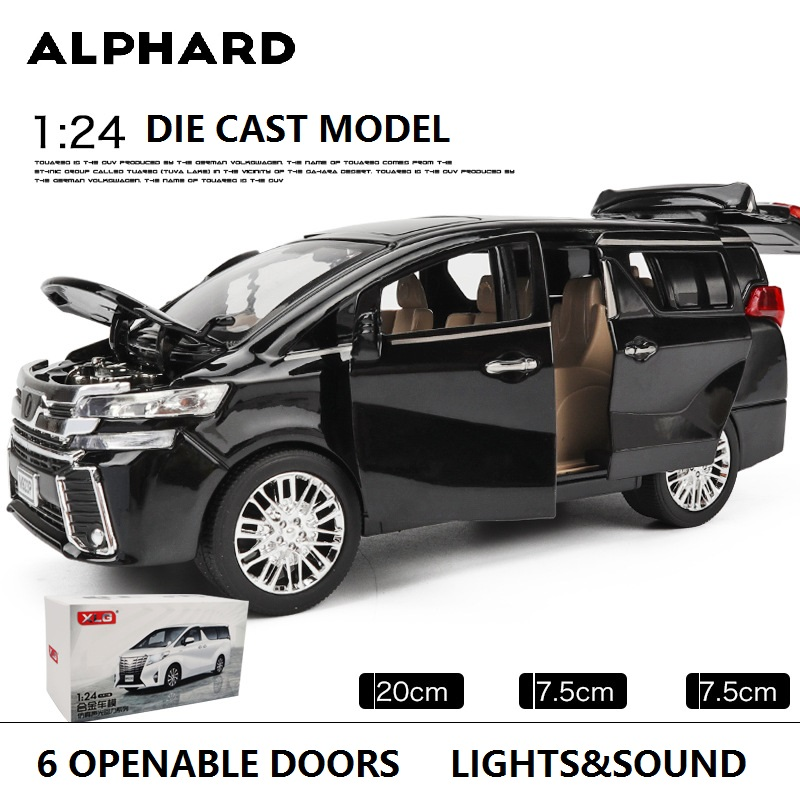 1:24 Model Car Big Size 20Cm W/6 Doors Openable Business Car MPV M923O-6 Excellent Quality Collection & Toys Car