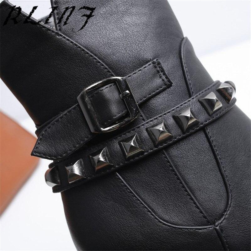 Avec Talons noir Rivet De Imperméable gris Chaussures Hauts Rlinf Femmes Beige forme 2018 Bottes Épais Des À L'eau Courtes Nouveau Plate q66aHt