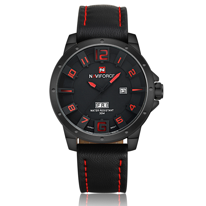 Luxury Brand NAVIFORCE Watches men Casual Quartz Leather wristwatch Army Military reloj hombre men s clock