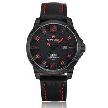 Lujo NAVIFORCE marca relojes hombres Casual reloj del cuarzo del cuero del ejército militar reloj hombre hombre del reloj del relogio masculino