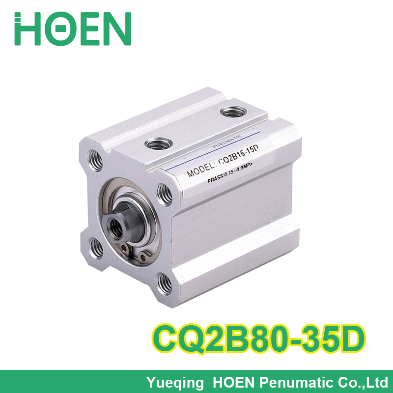 CQ2B80*35 SMC Type CQ2B series CQ2B80-35 bore 80mm stroke 35mm Double Acting single rod Pneumatic Compact Cylinder high quality high quality double acting pneumatic gripper mhy2 25d smc type 180 degree angular style air cylinder aluminium clamps