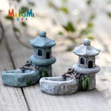 2 piezas miniatura Vintage torre de piscina Artificial Micro decoración de paisajismo plástico artesanía arena Mesa DIY Accesorios