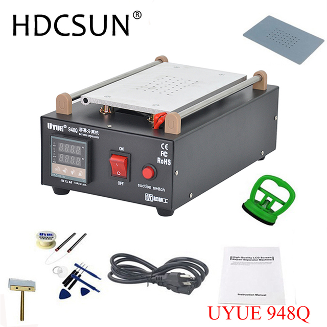 UYUE 948Q High Quality 110/220V Build-In Air Pump Vacuum LCD Screen Separator Machine Repair Machine For Phone+more Gifts