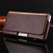 High Quality PU Leather Belt Clip Phone Pouch Bag for iPhone Samsung Huawei Xiaomi Meizu Vintage Adjustable Phone Case Cover