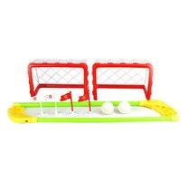 Ворота для мини хоккея набор 2 сетки для автомобиля 2 палочки 2 мяча детские домашние игры на открытом воздухе лучшая игрушка Спорт лучший по