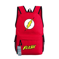 New Comics The Flash School Backpack Student Bookbag Unisex Shoulder Travel Bags Fashion Casual Bags Gift