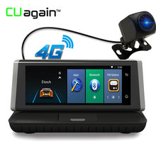 "CUagain CU2 DVR 8"" GPS Dash Cam 4G Wifi Android Car Camera Mirror Touch Screen Video Recorder Bluetooth 1080 HD Autoregistrator"