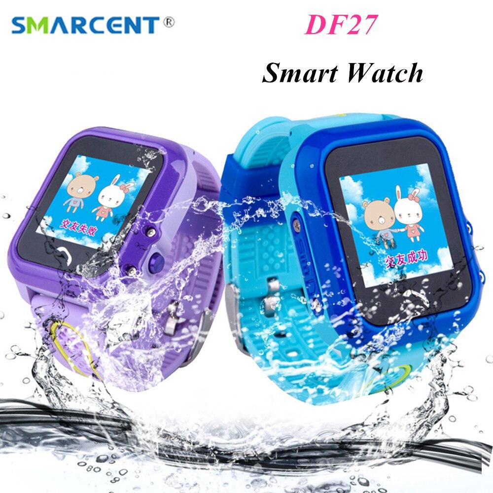SMARCENT DF27 Waterproof Kids GPS Swim phone smart watch SOS Call Location Device Tracker Baby Safe