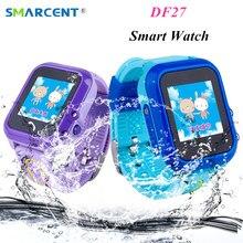 SMARCENT DF27 Waterproof Kids GPS Swim phone smart watch SOS Call Location Device Tracker Baby Safe Anti-Lost Smartwatch pk DF25