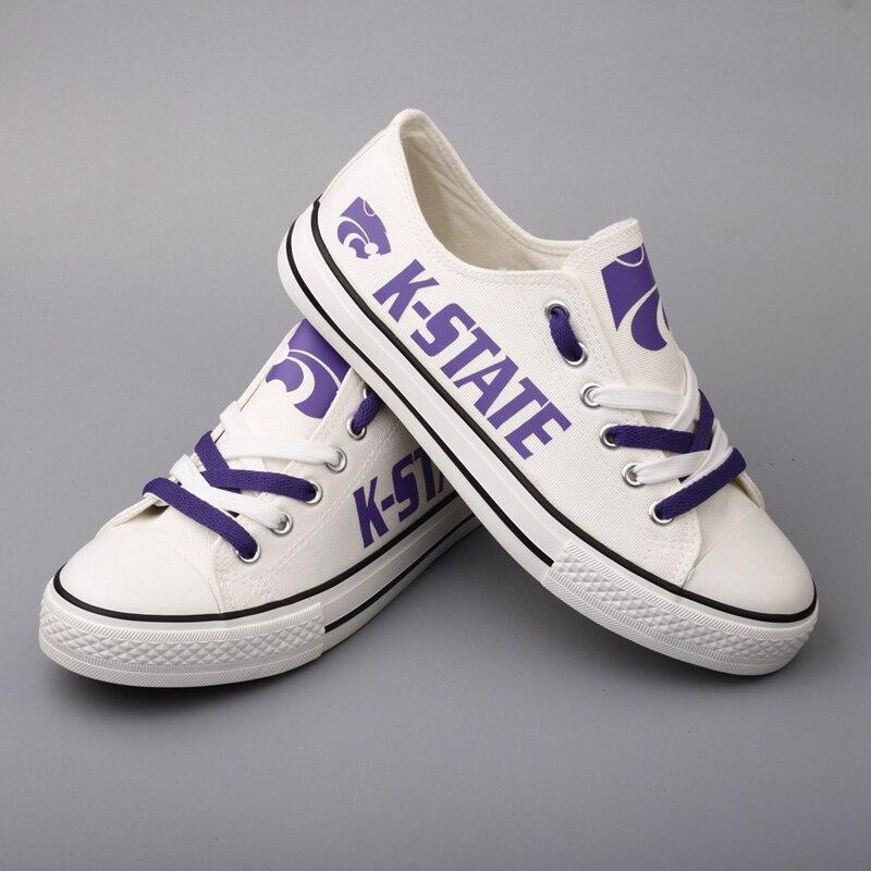 T Shipping Kansas Drop 0000 Hommes Amérique Étudiants dv79 t Garçon Chaussures Noir Pour Conception Occasionnels Blanc Cadeaux State Marche dv79h Toile Fans TdxrYd1